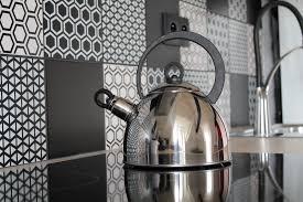 credence cuisine noir et blanc carrelage york leroy merlin stunning awesome con