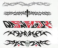 Amazing Five Armband Tattoo Design
