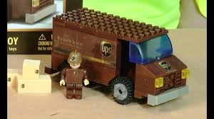 Daron BestLock LEGO Compatible UPS Truck Brick Toy Review - YouTube