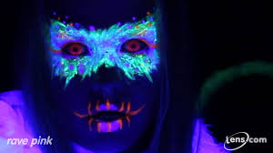 Theatrical Contacts No Prescription by Rave Pink Glow In The Dark Contact Lenses At Lens Com Youtube
