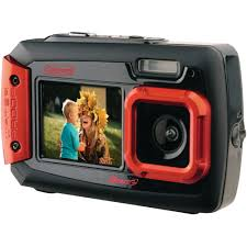 Coleman 2V9WP Duo2 Dual Screen Waterproof 20MP Digital Camera Red