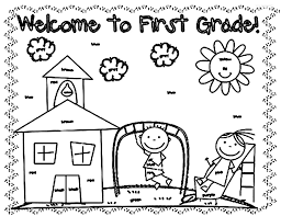 Coloring Pages For Grade 1 Kids Drawing And