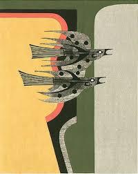 Fumio Fujita Abstract Modern Japanese Woodblock Prints