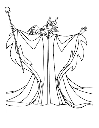 Powerfull Witch Maleficent Coloring Pages