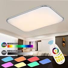 moderne led deckenleuchte fernbedienung gruppe rgb deckenleuchten für wohnzimmer schlafzimmer fernbedienung farbwechsel le hause beleuchtung