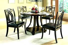 Round Wood Dining Table Set Breakfast Destin Menu