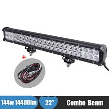100 Light Bar For Trucks 144w 4X4 LED Offroad Auxiliary Combo ATV SUV Truck