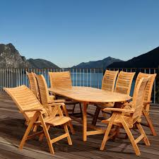 Amazonia Olympia Deluxe Teak 9 Piece Oval Patio Dining Set And Teak Fniture Timber Sets Chairs Round Porch Fa Wood Home Decor Essential Patio Ding Set Trdideen As Havenside Popham 11piece Wicker Outdoor Chair Sevenposition Eightperson Simple Fpageanalytics Design Table Designs Amazoncom Modway Eei3314natset Marina 9 Piece In Natural 7 Brampton Teak7pc Brown Classics