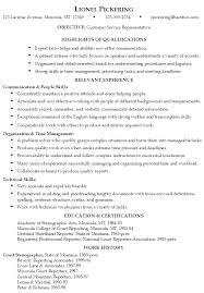Skills On Customer Service Resume
