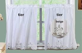 Window Art Tier Curtains And Valances by Amazon Com Battenburg Lace Kitchen Curtain 30