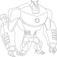 Big Alien Ben 10 Coloring Pages