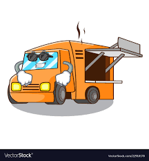 100 Pictures Of Cool Trucks Super Cool Food Truck With Isolated On Mascot