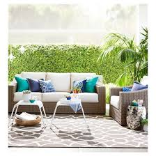 Smith And Hawken Patio Furniture Set by Premium Edgewood Wicker Patio Sofa Smith U0026 Hawken Target