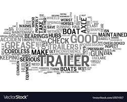 100 Cloud Trailer Basic Trailer Maintenance Text Word Cloud Concept