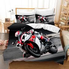 motorrad 3d bettwäsche set bettbezüge ducati isle of tt motorrad racing tröster bettwäsche sets bettwäsche bettwäsche