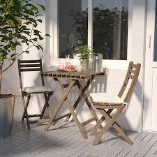 askholmen tisch 2 stühle außen hellbraun lasiert ikea