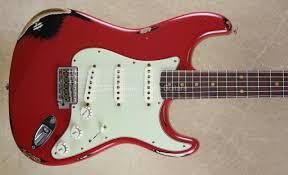 Fender Custom Shop NAMM Strat 62 Heavy Relic Stratocaster Dakota Red Over Black