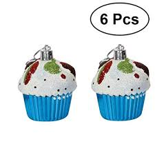 Amazon VORCOOL Hanging Cupcake Ornaments Pendants For Christmas