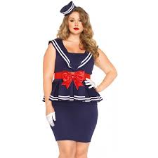 Aye Sailor Girl Plus Size Retro Dress At Cosplay Costume Closet Halloween Costumes