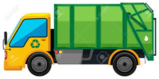 Rubbish Truck On White Background Illustration Royalty Free Cliparts ...