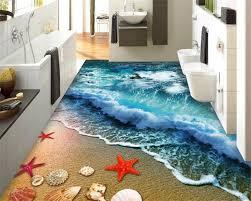 beibehang hause bad schlafzimmer boden selbst klebe tapete strand strand wellen surfen 3d boden fliesen malerei 3d bodenbelag