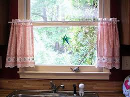 kitchen classy bay window curtains country style kitchen