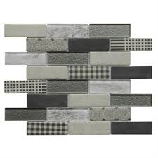Lowes Canada White Subway Tile by Bestview Multi Colors Multi Brick Mosaic Glass Wall Tile Common