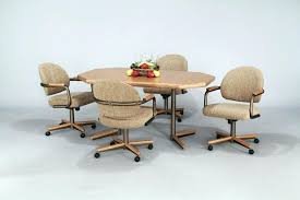 Dining Room Chairs On Wheels Swivel Dining Room Chairs Cute With
