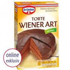 dr oetker backmischung torte wiener 650g packung