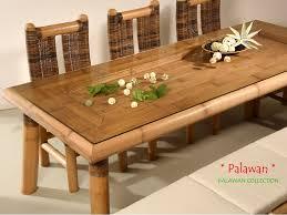 palawan esszimmertisch bambustisch mit dekomöglichkeit palawan collection
