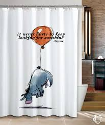 Charming Shower Curtains With Quotes and Disney Winnie The Pooh