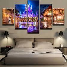 Disney Main Street Hq 5 Piece Art Canvas Print Arts N Games