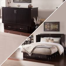 Zebra Products Rajkot Espresso Queen Murphy Chest Bed With Coolsoft