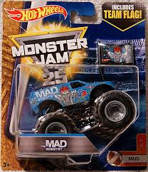 100 Team Hot Wheels Monster Truck 17 Jam The MAD SCIENTIST MUD 67 1