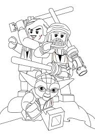 Lego Star Wars Characters Coloring Page