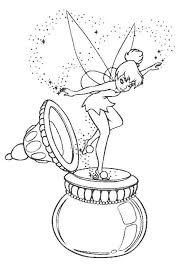 Disneyland Tinkerbell Free Printable Coloring Pages