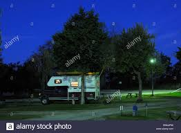 Pickup Truck Camper Campground Night Cave City Kentucky USA America ...