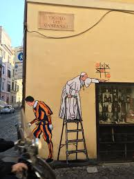 Famous Graffiti Mural Artists by There U0027s New Graffiti Art Depicting Pope Francis In Rome From