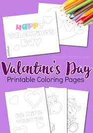 These Valentines Day Coloring Pages Make The Perfect Quick And Easy Activity For Toddlers Preschoolers