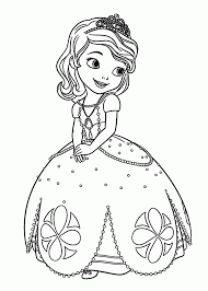 Sofia The First Coloring Pages Disney Junior Hedgehog Free