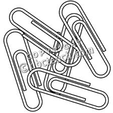 paper clip clipart black and white 4