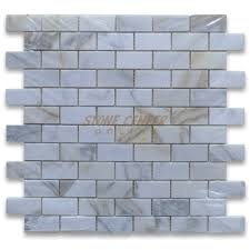 calacatta gold 1x2 medium brick mosaic tile polished marble from