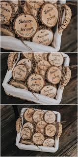 Personalized Wedding Favors Rustic Wood Slices