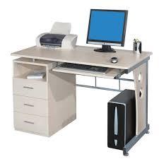 bureau informatique informatique avec tiroirs de rangement couleur érable
