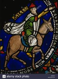 Balaam And The Ass Panel 37 Poor Mans Bible Window Canterbury 13th Century Stained Glass