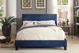 Homelegance Brice Upholstered Platform Bed Blue 1880BUE 1
