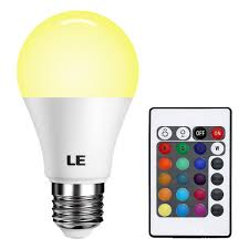 High Ceiling Light Bulb Changer by Le Dimmable A19 E26 Led Light Bulb 6w Rgb 16 Colors Remote