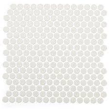 soho studio corp simple mosaic rimmed rounds tile colors