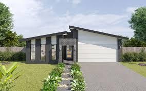 104 Skillian Roof Hamilton Mki Skillion Narrow Design Home Design Tullipan Homes