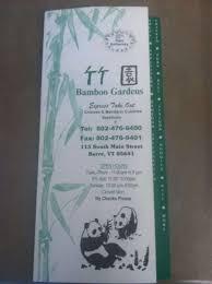 Bamboo Gardens Menu Menu for Bamboo Gardens Barre Barre